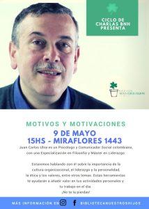 CHARLA MOTIVOS Y MOTIVACIONES @ BIBLIOTECA NUESTROS HIJOS