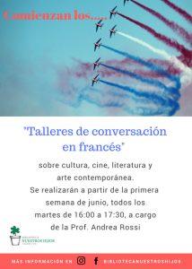 Talleres de conversación en francés @ Biblioteca Nuestros Hijos