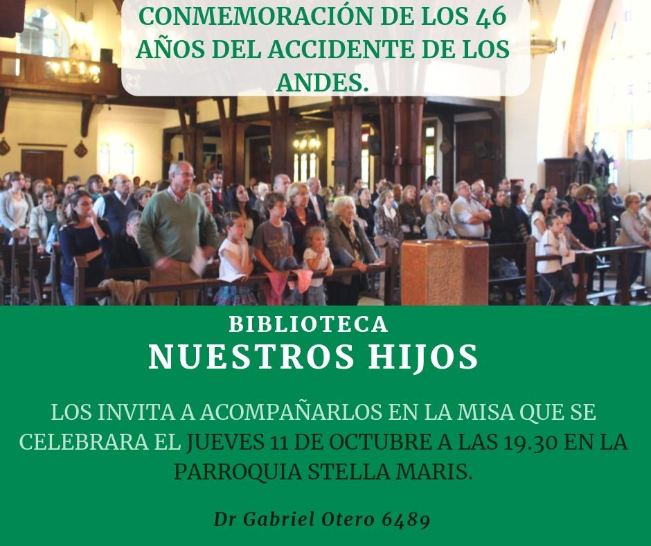 CONMEMORACION DE LOS 46 AÑOS DEL ACCIDENTE DE LOS ANDES.