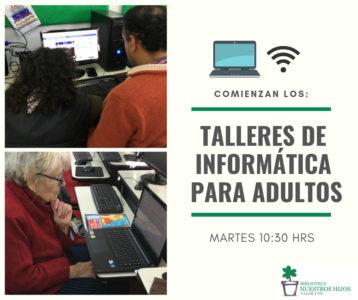 Clases de computación para adultos @ Biblioteca Nuestros Hijos