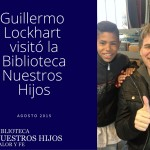 Guillermo Lockhart en la bibliot